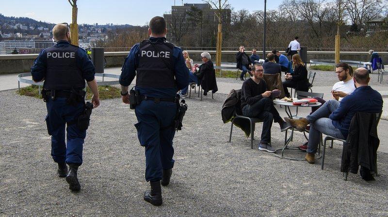 Coronavirus: la police veille, des sanctions sont prévues pour les contrevenants aux mesures de lutte