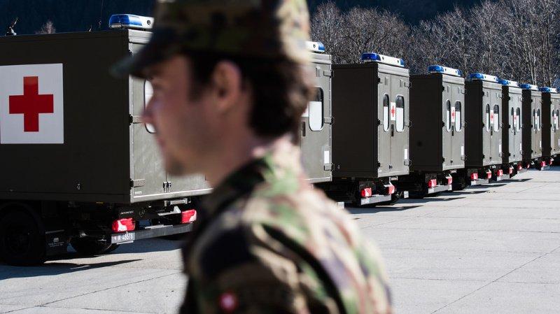 L'armée vient en aide en priorité au domaine de la santé.