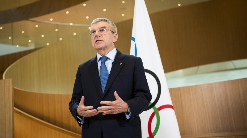 Le président du CIO Thomas Bach ne veut pas parler d'annulation des JO de Tokyo prévus du 24 juillet au 9 août.