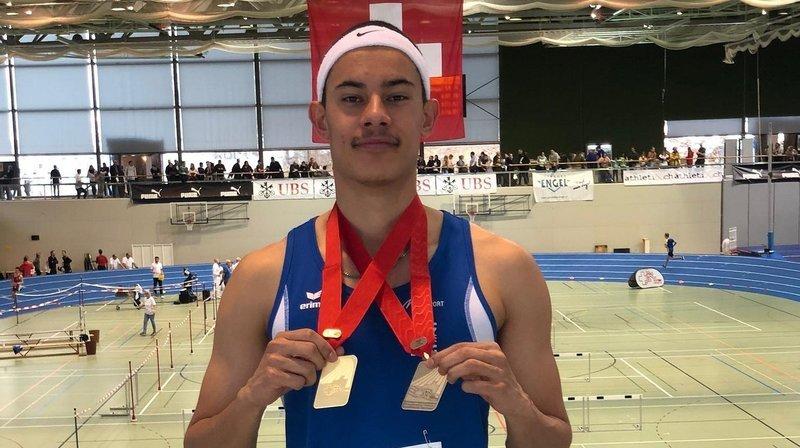 Jarod Maury a récolté l'or sur 60 mètres et le bronze sur 200 mètres, en U20.