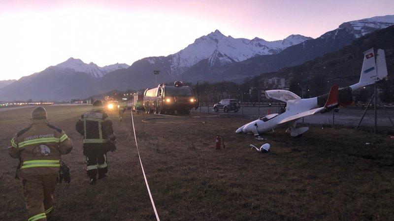 Un motoplaneur s'abîme à l'aéroport de Sion