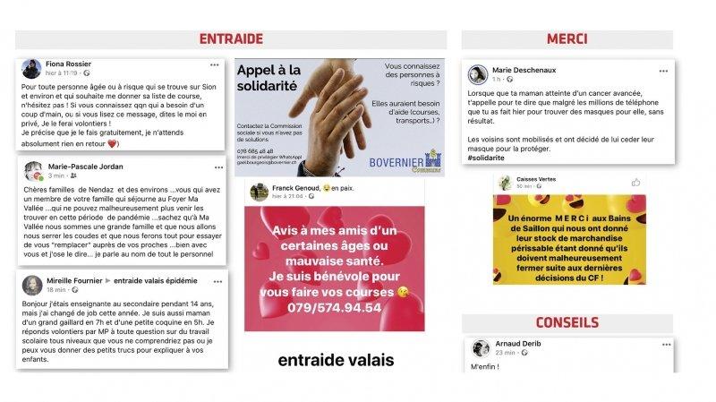 En Valais, la solidarité citoyenne face au Coronavirus