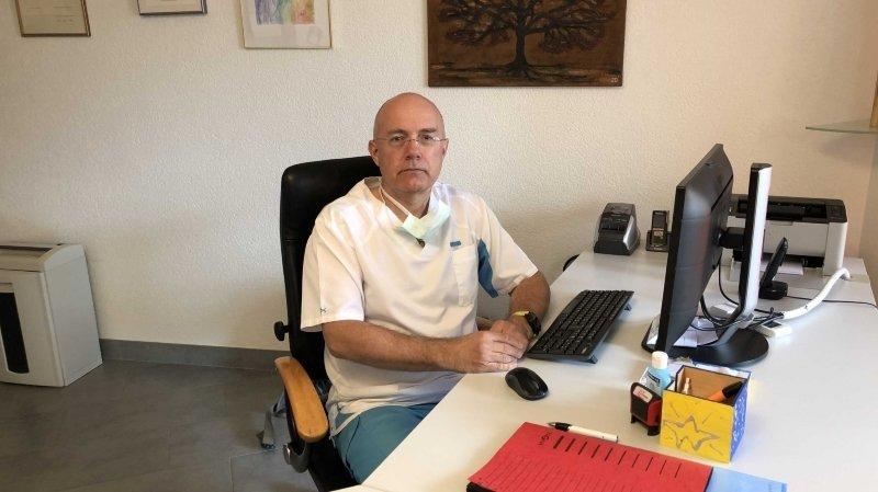 Le docteur Pierre Arnold, président du Groupement des médecins du Valais romand.
