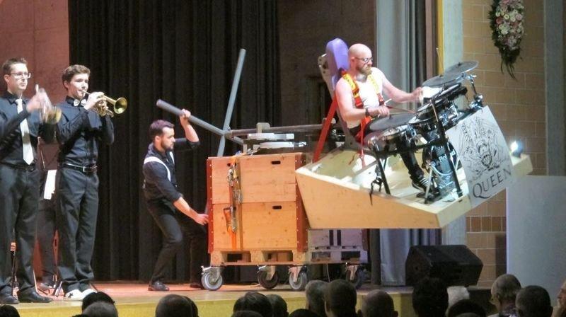 Une prestation renversante du percussionniste valaisan Olivier Mariétan