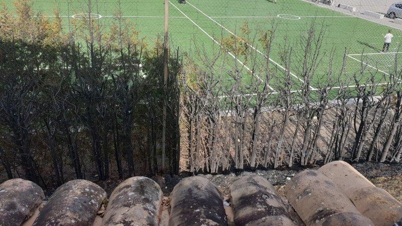 Martigny-Bourg: des enfants mettent le feu à une haie près de l'école