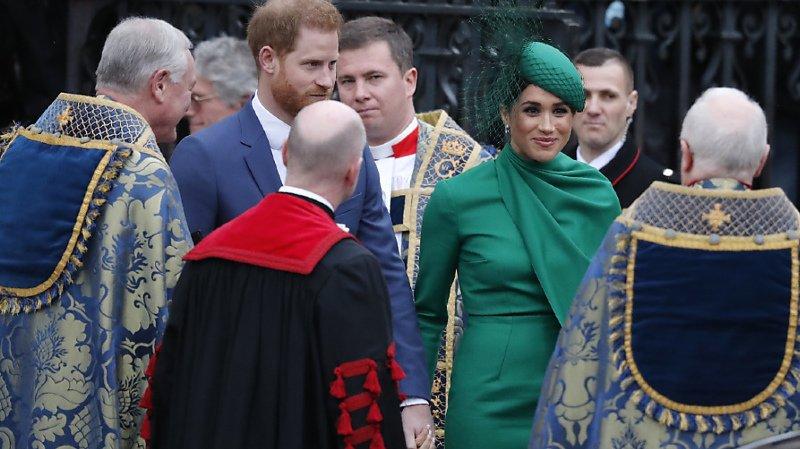 Monarchie: dernier devoir royal pour le prince Harry et Meghan