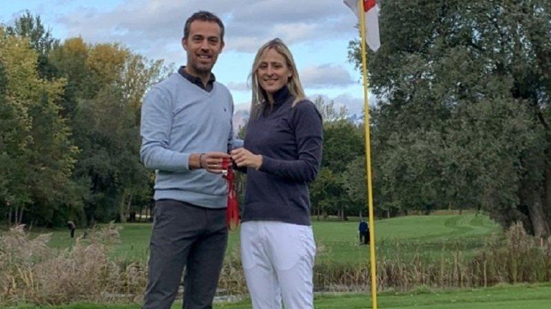 Caroline Emery, la première femme manager de golf club en Valais