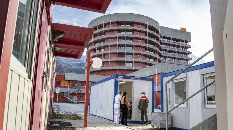 Un parcours spécial coronavirus mis en place à l'Hôpital du Valais