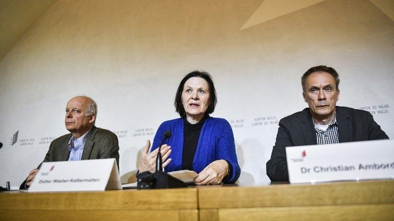 Nicolas Troillet, Esther Waeber-Kalbermatten et Christian Ambord ont apporté quelques précisions sur le premier cas de coronavirus en Valais.
