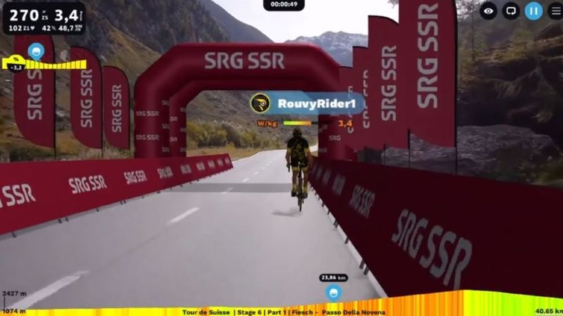 Coronavirus – E-Sport: un Tour de Suisse virtuel à la télé, avec des pros qui pédalent chez eux