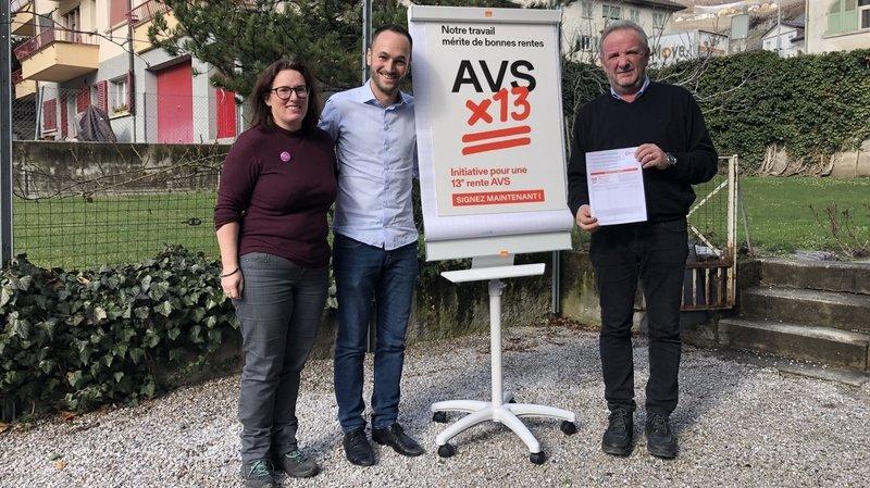 Initiative pour une 13e rente AVS: récolte de signatures lancée à Sierre
