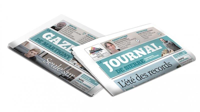 Interruption momentanée des parutions du «Journal de Sierre» et de «La Gazette de Martigny»