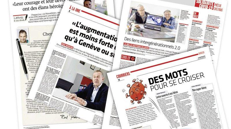 """Les pages spéciales conçues par """"Le Nouvelliste""""."""