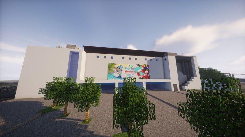 Un jeune Martignerain reproduit l'Aquaparc du Bouveret dans Minecraft