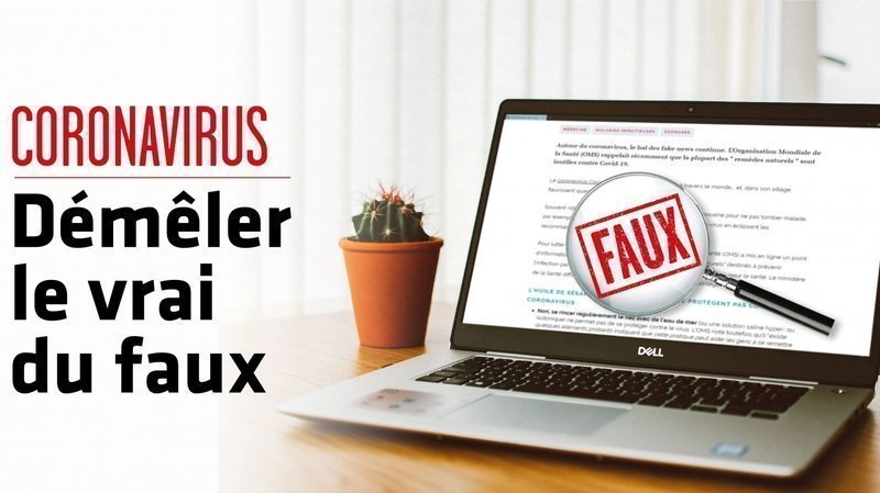 Régulièrement, nous décortiquons pour vous les fake news sur le coronavirus diffusées sur les réseaux sociaux et les messageries.