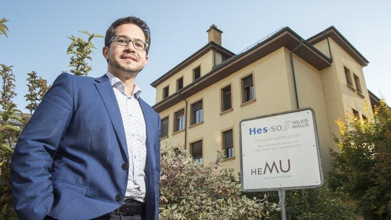 Directeur de l'HEMU site de Sion, Aurélien D'Andrès met tout en oeuvre pour garantir la validité académique de l'année en cours.