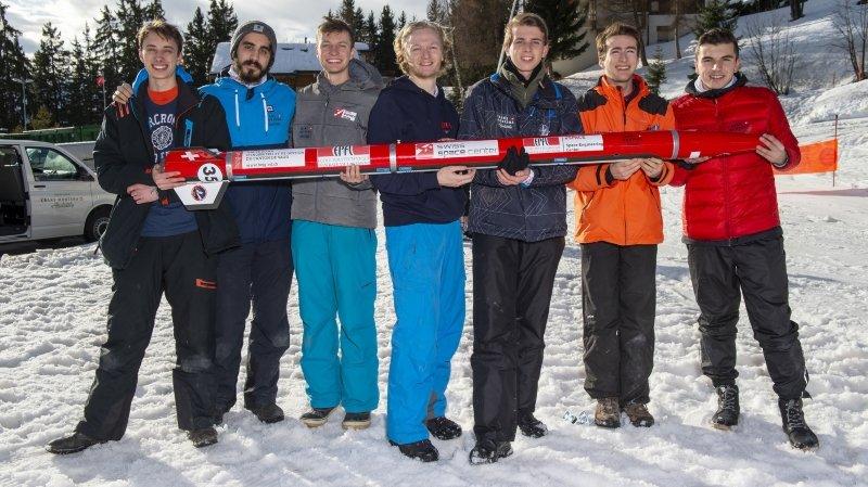 L'EPFL Rocket Team à Crans-Montana lors des essais de décembre 2019.