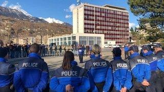 Grosse opération policière menée en Valais