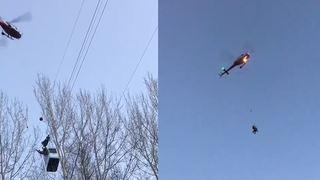Le téléphérique Chalais-Vercorin évacué par hélicoptère