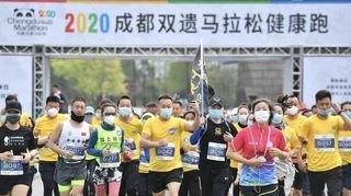 Coronavirus: des Chinois participent à nouveau à une manifestation sportive