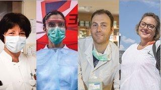Coronavirus: nos héros tout en blanc, comme des anges gardiens