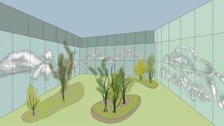 Extension de l'hôpital de Sion: la déco de la future cour centrale dévoilée