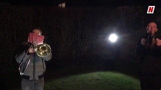 """Des centaines de musiciens valaisans jouent """"Marignan"""" à l'unisson"""
