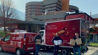 500 paniers gourmands de grands chefs et vignerons distribués dans cinq hôpitaux romands