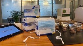 Coronavirus: l'Hôpital du Valais reçoit 5880 masques en cadeau