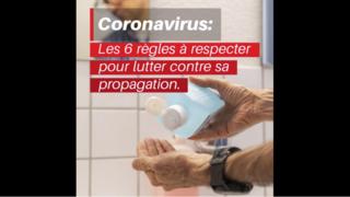 Coronavirus: les 6 règles à respecter pour éviter la propagation