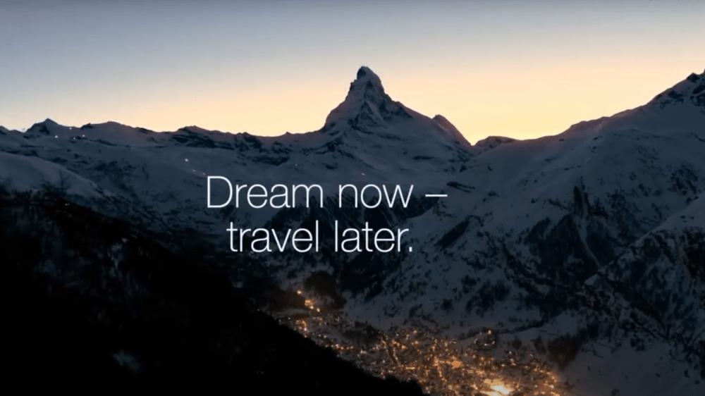 Suisse Tourisme, comme la plupart des promoteurs du tourisme, mène une étrange campagne. Il faut vendre un produit qui n'est pas accessible.