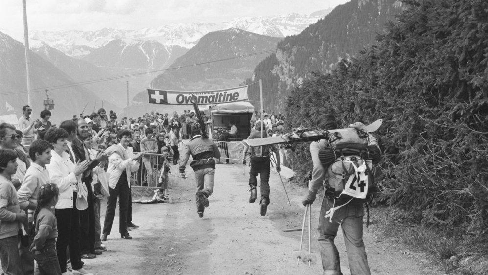 Le site d'arrivée de Verbier accueille en 1984 les concurrents de la Patrouille des Glaciers après 35 ans d'interruption.