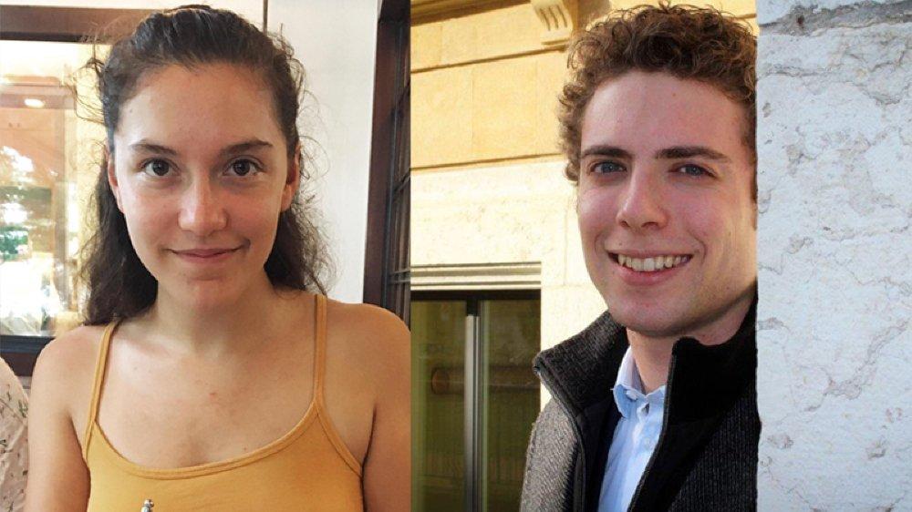 Alicia Reuse est étudiante en médecine à Fribourg. Jonas Follonier, en philosophie et littérature française à Neuchâtel.
