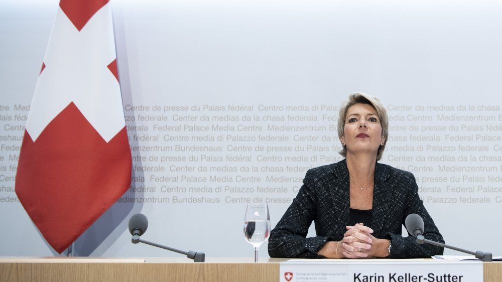 La décision formelle dépendra encore de l'évolution de l'épidémie, a rappelé Karin Keller-Sutter.