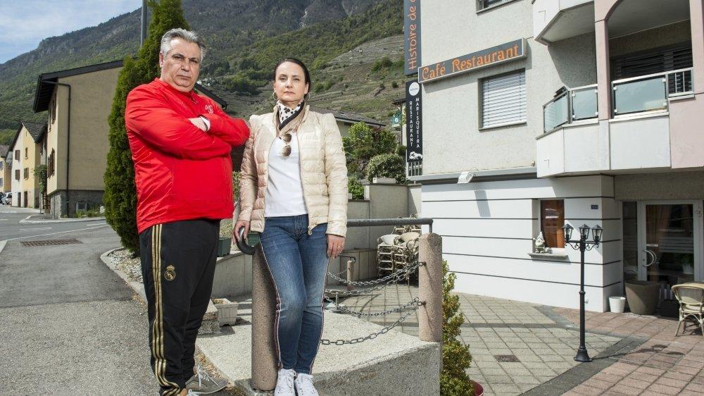 Silvia et Antonio Queiros Teixeira ont investi une partie de leurs économies dans leur restaurant.