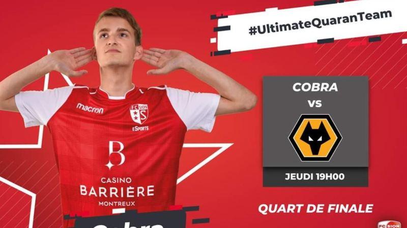 """Fabio Pechlaner, alias """"Cobra"""", est un Zurichois de 19 ans. Il défend les couleurs du FC Sion avec des manettes."""