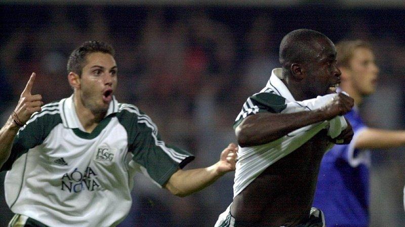 Le FC St-Gall exulte après avoir battu Chelsea 2-0.