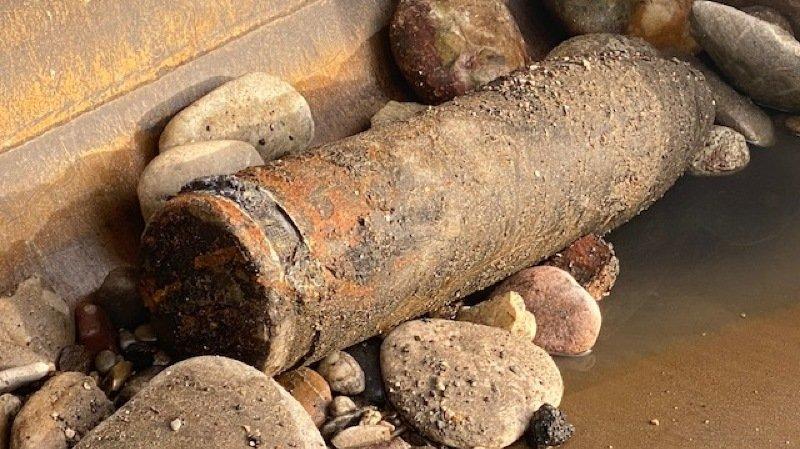 Le projectile a été découvert au bord du Rhin.