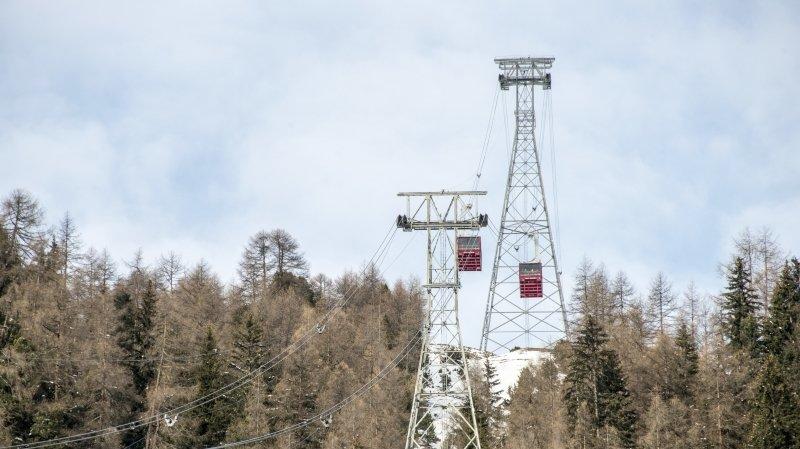 Le téléphérique qui effectue la liaison Zinal-Sorebois sera remplacé.