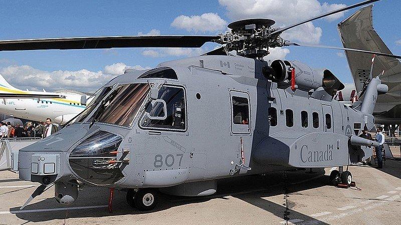 Le CH-148 Cyclone participait à des exercices avec des membres alliés près de la Grèce. (illustration)