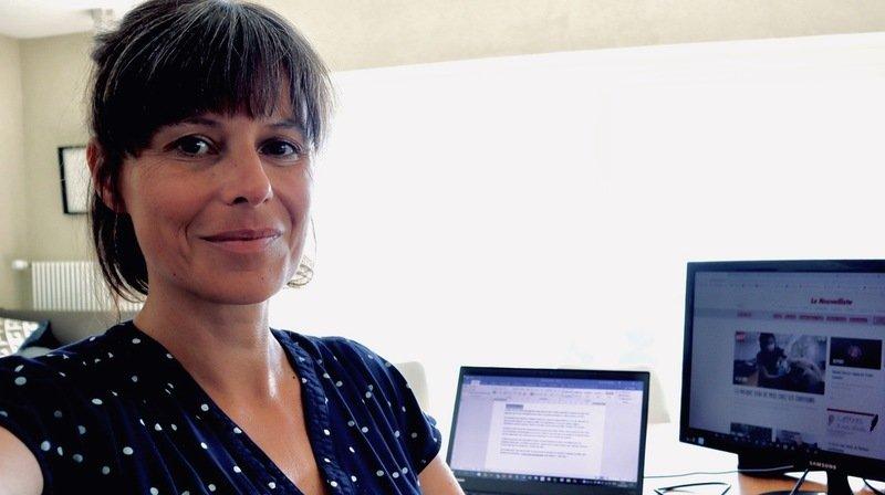 Alexia Philippoz, cheffe d'édition numérique confinée.