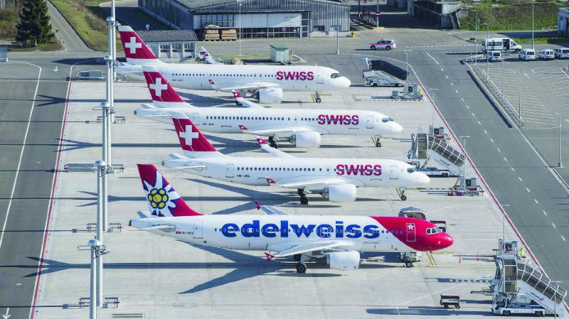 Coronavirus: le Conseil fédéral veut venir en aide à l'aviation suisse
