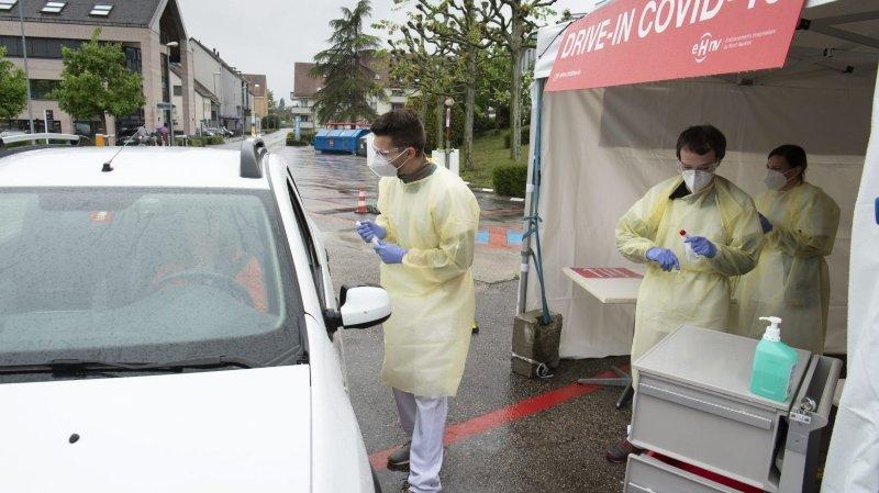 Coronavirus: le premier drive-in de dépistage de Suisse romande ouvert à l'hôpital d'Yverdon-les Bains