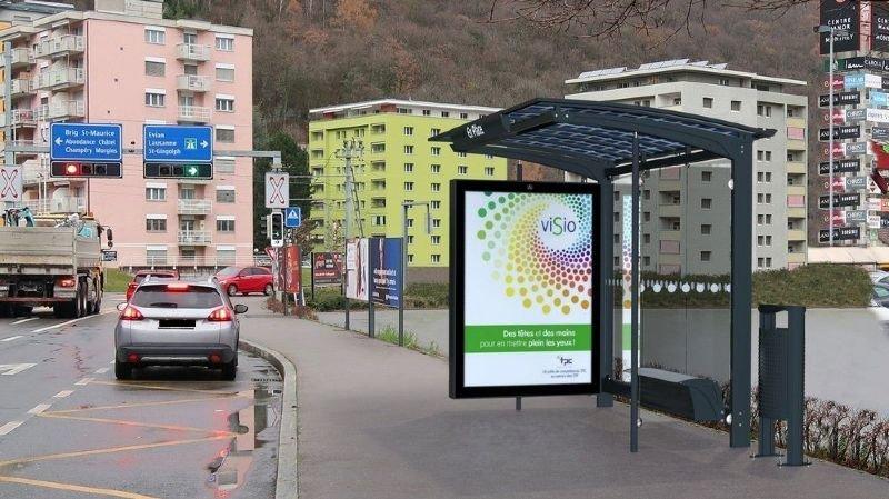 L'entreprise sise en Valais propose aussi des abribus solaires.