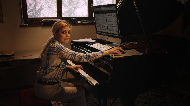 """Beatrice Berrut: """"j'en profite pour me poser et composer"""""""