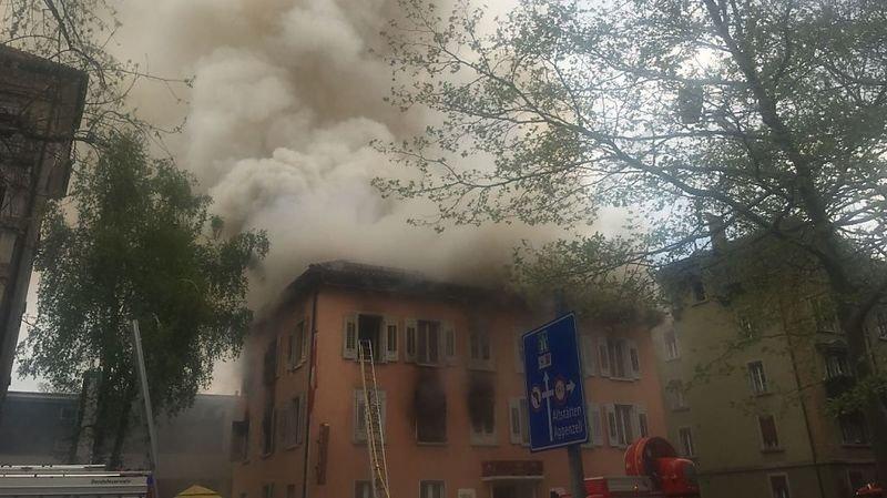 St-Gall: l'incendie d'un ancien hôtel fait quatre blessés