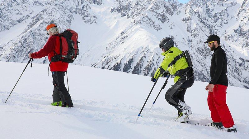 Recherche EPFL: un exosquelette qui permet la randonnée à ski