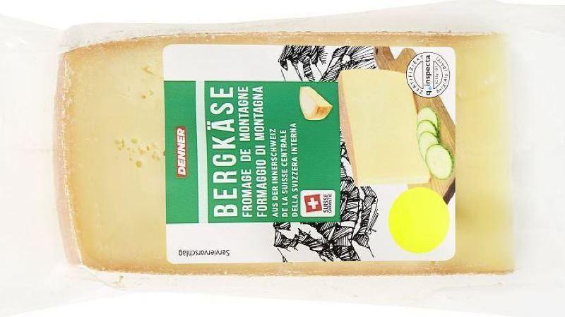 Rappel de produit: des listérias dans le fromage de montagne de Suisse centrale vendu chez Denner