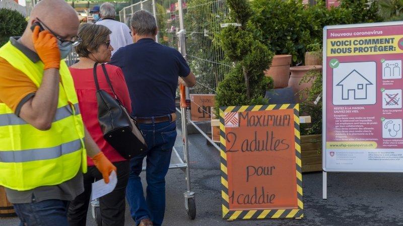 Le magasin Hornbach de Riddes a choisi de ne pas laisser entrer d'enfants le jour de la réouverture.