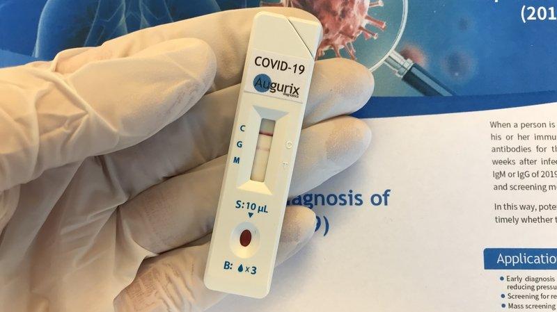 Coronavirus: l'entreprise montheysanne Augurix lance le premier test rapide de dépistage de Suisse